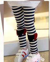 Wholesale Children leggings kids sweet cotton tights girls leggings D Lovely stripe elasticity kids pants