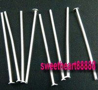 Pins & Needles   MIC 750 Silver Plated Head Smooth Pins & Needles 50mm 092601