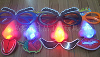 Wholesale Halloween Luminous Glasses Funny toy Party Led Nose Flash Mask Christmas Flash Jewelry