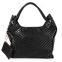 Wholesale Korean Style Lady Girls Hobo PU Leather Handbag Shoulder Bag with Purse black Beige Pink Brown H8962