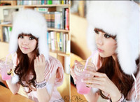 Wholesale Winter extra thick warm ear hat full wool like outdoor men and women cap