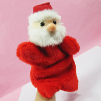 Indoor Christmas Decoration   Hot Items for Christmas Santa Claus plush hand puppet Manual Control Santa Claus Dolls 10pcs lot
