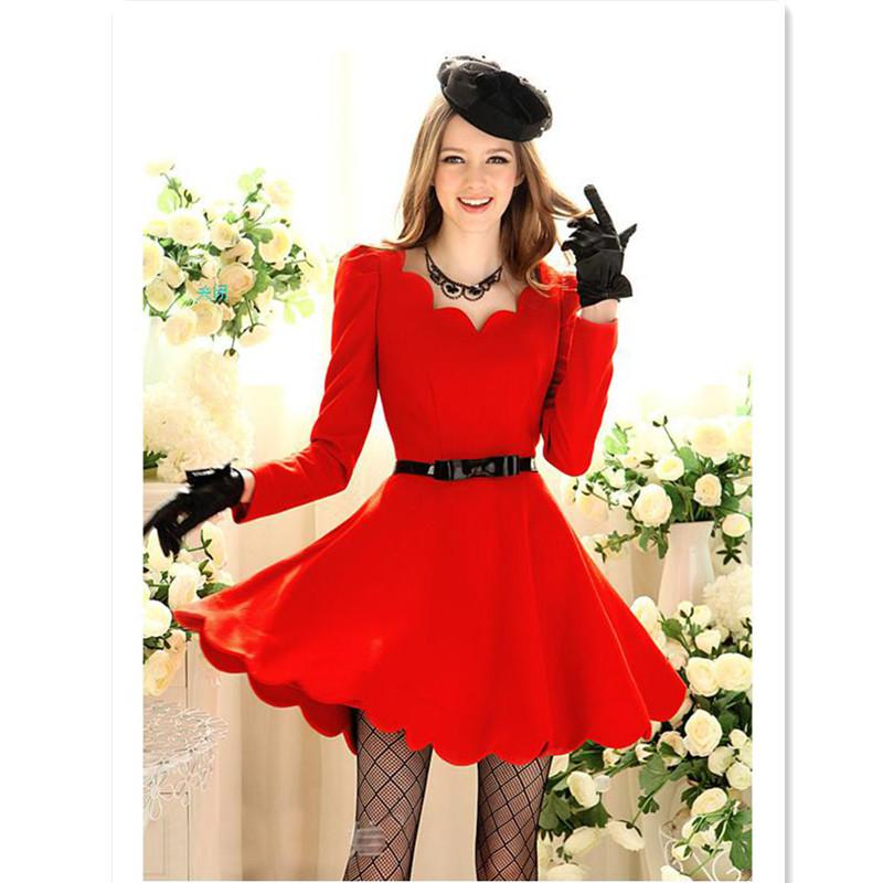 2017 2012 Fashion Women Dress Casual Autumn Vintage Dress Long ...
