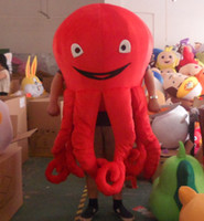 Wholesale Red Octopus Mascot Octopus Costumes Halloween Mascot Fancy Dress Adult Size