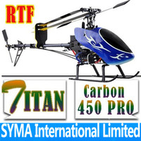 Wholesale Titan Pro Carbon Fiber RTF CH G D Fly Parts Compatible Align T rex Trex RC Helicopter S616