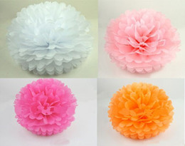 Wholesale 10 quot Colors Tissue Paper Wedding Pom Poms Flower Balls Wedding Decoration