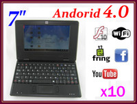 Wholesale 10pcs Andoird laptop quot netbook GB inch VIA8850 Good for Kids notebook RW L01