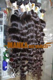 "12""-28"" 100% brazilian human hair weaves 40G=1.4oz PCS hair wave deep curly natural Color"