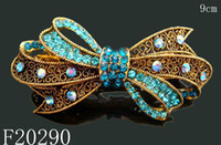 Wholesale Vintage Hair Jewelry crystal rhinestone flower Hair Clips Barrettes Hair Accessories mixed color F20290