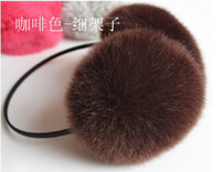 Wholesale hot women Winter ear warm ear cover earcap Imitation fox woolmulticolor Earmuffs cover