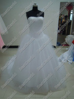 Wholesale kim kardashian Lace Wedding Dress Designer Strapless Ball Gown Vintage Bridal Tulle Skirt