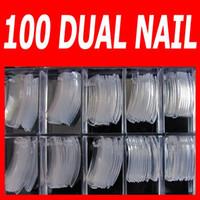 [AA512] Système de clous à double forme pour UV GEL Acrylique Nail Art Tips (100 pcs conseils dans la boîte comme un ensemble)
