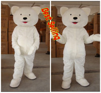 Unisex best selling halloween costumes - Actual Image Best Selling Cute White Bears Fancy Cartoon Mascot Costume Adult Size