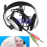 Wholesale Pieces HEADPHONE HEADSET EARPHONE MICROPHONE MIC FOR PC LAPTOP