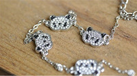 Wholesale 50pcs New Jewelry delicate is full diamond red pandas anklets ASUKA