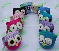 Wholesale New arrival Baby Toy Owl Plush OWL doll soft Crochet OWL inches Animal Shape baby dolls Puppets