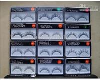 Human Hair beautiful false eyelashes - Beautiful Make Up Black False Eyelashes Mascara Glue