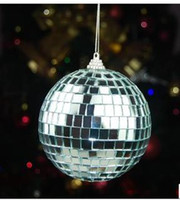 Wholesale 10cm Silver Glass Christmas Ball Ornaments Mirror Glass Ball Christmas Decoration