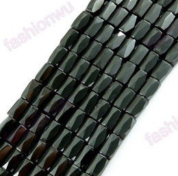 Wholesale MIC New Black Magnetic Hematite Faceted Beads Metals Alloy Loose Bead Jewelry DIY