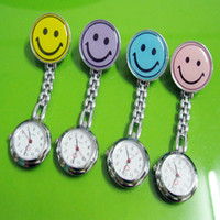 Wholesale 20pcs Smile Face Nurse FOB Brooch Pendant Pocket Quartz Watch