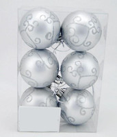 Wholesale 6cm Silver Matte Color Painting Christmas Ball Ornaments Tree Decoration Glazed Ball Plating Ball