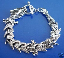 Wonderful Chinese Tibetan silver dragon bracelet