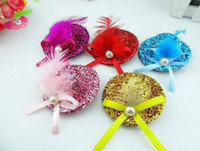 Wholesale Glitter Mini Top Hat Clip On Fascinator Party Dance Cocktail Ball Play cm