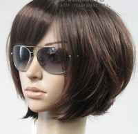 Wholesale New Short Dark Brown Fashion BOB Wig gift