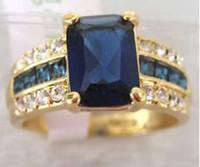 tanzanite ring - Genuine blue Tourmaline Tanzanite Ring