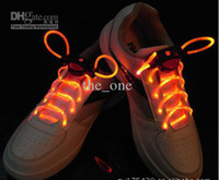 Wholesale 10 colors LED Light Up Shoes shoelaces Luminous shoestring Flash Glow Stick pairs Free Shi
