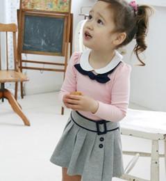 Wholesale Baby Girl Dress set Long Sleeves Top Skirt Children Spring Autumn Wear Kids Dress