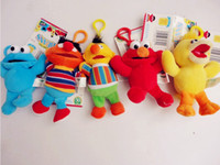 Wholesale Retail Styles Colorful Sesame Street Elmo Stuffed Plush Dolls Toys Keychain Key Chain Doll inch