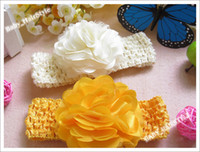 Hairband alligator band - 30pcs Color inch Baby Flower Strotch Hair Headbad Alligator Clip Flower For Head band