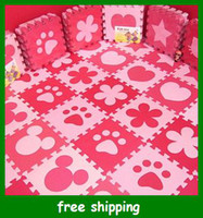 Wholesale iZone Eco friendly puzzle mats baby crawling pad baby climb a pads cm child eva foam