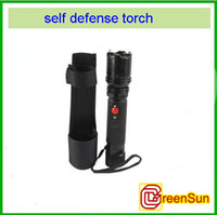 Wholesale 2pcs LED Flashlight Good rechargeable High power Impact Self Defense Security Set instock