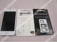 Wholesale Black White Nano SIM to Micro Sim to Mini Sim card adapter for iphone S C adapters