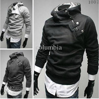 Men Cotton Waist_Length High Quality New Men's Hoodies Sweatshirts Rabbit Hair Collar Oblique Zipper Men's Jacket Coat