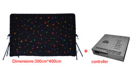 3x4m RGBW LED Star Curtain DMX512 control LED Star Cloth Light Stage Lighting Backdrop for Wedding Stage Decoration