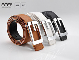 Fashion womens Leather Belts Dress G Buckle Belt for girl brown black and white