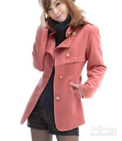 Women Middle_Length Wool Blend Hot sale Women's Winter Shrimp red clothes New Korean Woolen Overcoat wool Coat free shipping