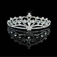 Wholesale In Stock Crystals Snowflake Tiaras in Silver Glamous Hair Bridal Accessories Princess Girl Tiaras