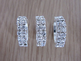 Wholesale Bridal Jewelry Rows Rhinestone Crystal Stretch Tennis Ring Wedding Jewelry Rings Promotion Gift
