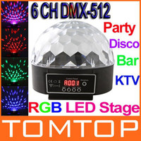 Wholesale 6 Channel DMX512 Control Digital LED RGB Crystal Magic Ball Effect Light DMX Disco DJ Stage Lighting H8732