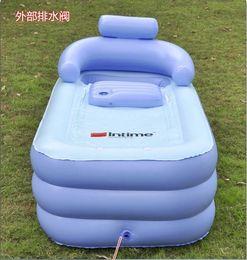 Wholesale inflatable bathtub inflatable bath barrel spa pvc bathtub with electric pump Free DHL shipping