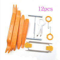 Wholesale 12pcs Car Radio Door Clip Panel Trim Dash Audio Removal Pry Tool Kit Plastic