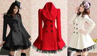 Women Middle_Length Wool Blend Women Wool Winter Coat Warm Skirt Slim Double Breasted Dress Parka 3Color