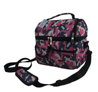 Wholesale picnic lunch bag insulated cooler bag two compartments lunch box