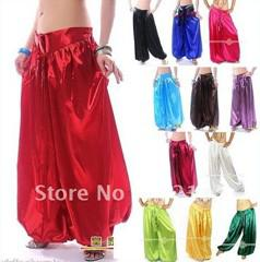 Wholesale Belly Dance Satin Harem Pants Tribal Style Bollywood Dancing Costume