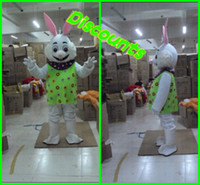 Wholesale 2013 Fast Custom Cute Bunny Animal Mascot Costume Cartoon Character Halloween Party