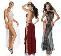 3 Colors Stage Clothing Party Dresses Sexy Full Sequin Trans...